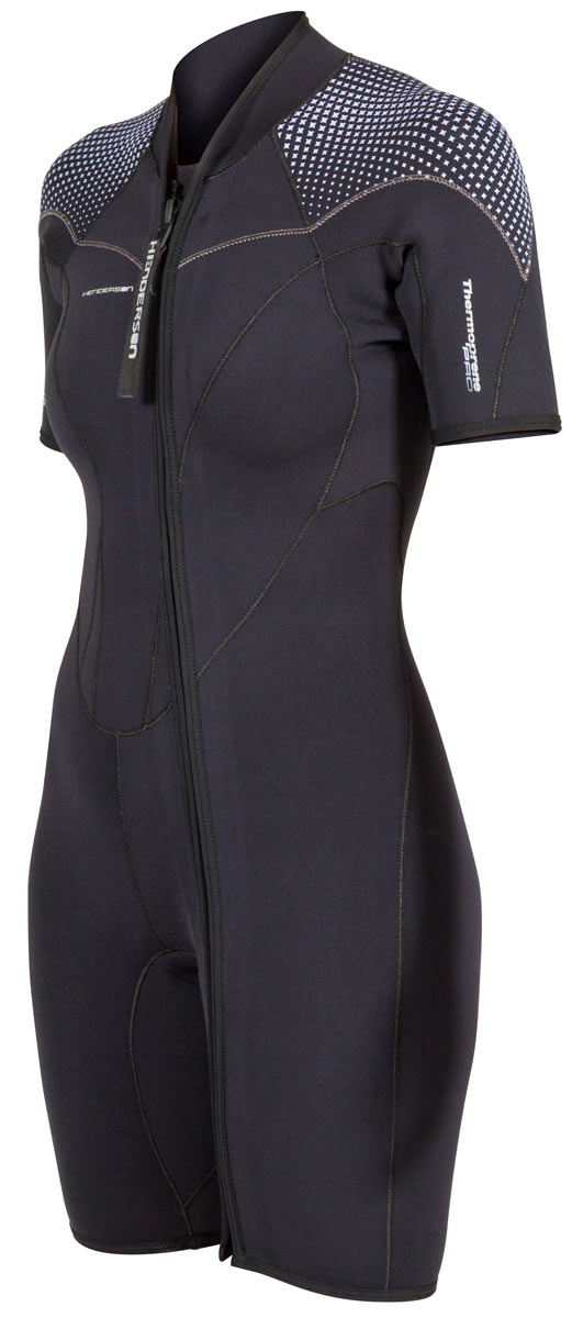 Henderson Womens 3mm Thermoprene Pro Front Zip Shorty Wetsuit